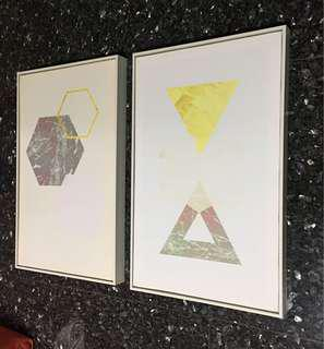 Wall Art 2 pieces 510 X 390mm Used