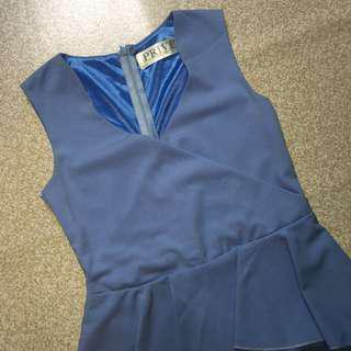 🆓Postage!!!🆕Pastel Blue V Neck Midi Dress