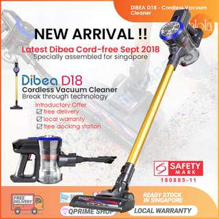 ✔FREE DELIVERY: Dibea D18 Cordless Vacuum Cleaner 12 months Local warranty