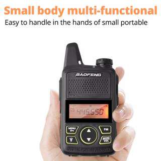🚚 New arrival! Baofeng T1 Walkie Talkie MINI BF-T1 Two Way Radio UHF 400-470mhz 20CH Portable Ham Radio FM Flashlight Handheld Transceiver