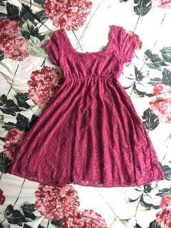 #MauIphoneX Pink Brukat Dress