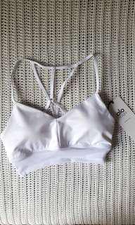 Brand New Alo Yoga Lush Bra White