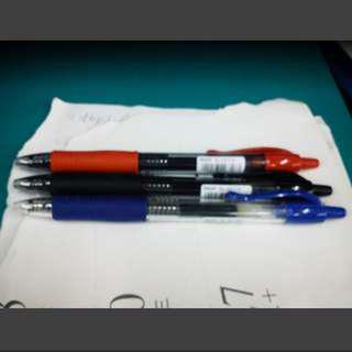 [限量] PILOT百樂 G2 中性自動筆(0.7/0.38mm) 3支 可替換筆芯/替芯