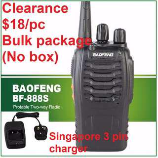 🚚 🚗 F1 promotion! 🚗 💕 $18/pc 💕, 👍NEW arrival 👍, bulk package (no box), BaoFeng 5W BF-888S Walkie Talkie UHF 400-470MHz Two Way Radio long range 3pin charger 777 666 Convoy long range