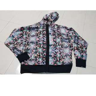 AUTHENTIC ADIDAS GRAPHIC HOODED WINDBREAKER