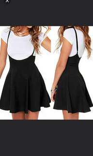 📦+High waist overall denim skirt
