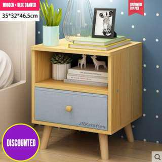 MINIMALIST NORDIC HOME BEDSIDE TABLE STORAGE CABINET