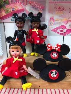 🚚 現貨-日本東京迪士尼-情侶吊飾-Mickey  Minnie 迷你米奇&米妮 耳朵帽鑰匙圈吊飾 迪士尼限定