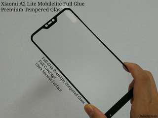 🚚 Xiaomi A2 Mobilelite Full Glue Premium Tempered Glass