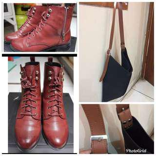Sepatu Zalora dan Tas