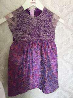 baju pesta anak lavender laces