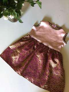 Baby peach etnic + pink girl dress 2-3 Y