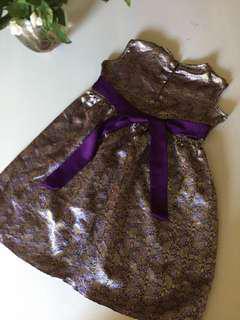 Purple nude etnic girl dress 4-5 Y