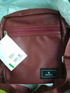 BENCH leather sling bag (maroon) - NEW WITH TAG