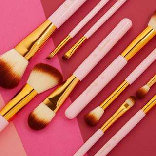 BHCosmetics Pink Perfection - 10 Piece Makeup Brush Set Ready stock