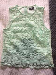 Mint green cute top