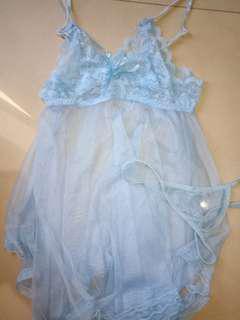 Lingerie babydoll blue