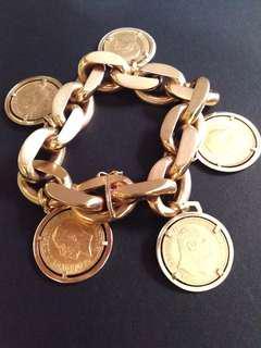22carat coins in 18k bracelet