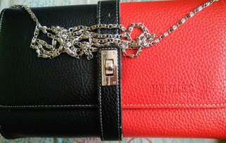 Two toned sling bag