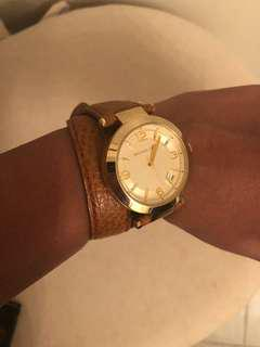 Michael Kors gold & brown leather watch