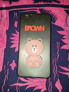 Case Brown 3D OPPO F1S