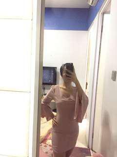 Dusty pink mini dress