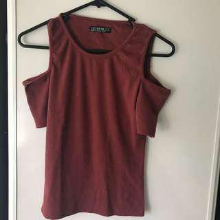 Cotton on cut out shoulder tops