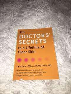 'The Doctors Secrets to a lifetime of clear skin' book