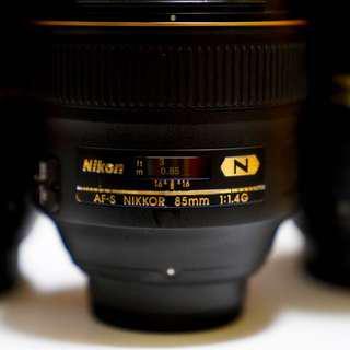 Rent: Nikon 85mm (f/1.4 and f/1.8)