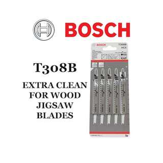 Bosch T308B Extra Clean for Wood Jigsaw Blade 5 pieces