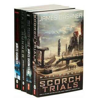 The Maze Runner Series (Book 1-4) [NEW]