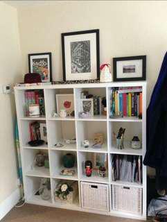 KALLAX 4x4 Shelf unit, high gloss white
