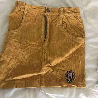 Vintage corduroy mustard skirt size 6