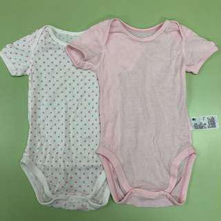 (包郵) Uniqlo baby 女童短袖純棉透氣內衣