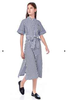 The Editors Market- Erelyn stand collar shirt dress
