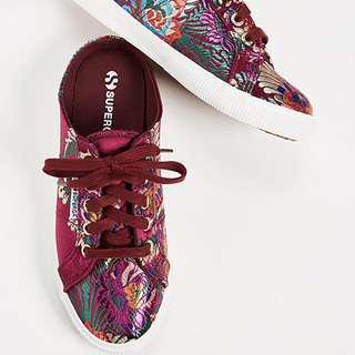 Superga brocade floral mules sneakers shoes