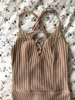 SHAREEN COLLECTIONS bodysuit nude/tan
