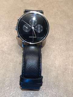 Georg Jensen watch with new straps and pouch