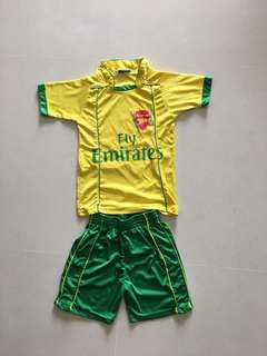 Kids sports jersey and shorts