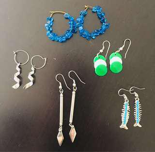 Earrings for women (set 3)