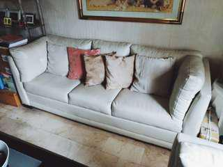 Living Room Couch Set (White)