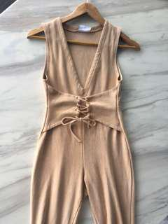 Size 8 | Oh Polly nude jumpsuit