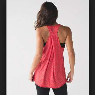 Lululemon Essential Tank (Brand new) - pink/Heathered True Red