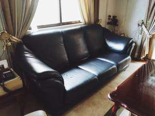 Living Room Couch Set (Dark Green)
