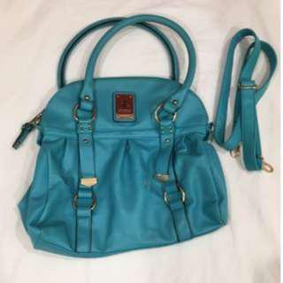 Kardashian Kollection - Gathered Bowling Bag -Turquoise