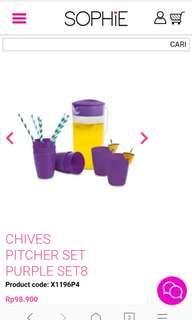 Chives pitcher set
