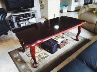 Brown Glass-top Coffee Table