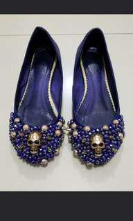 紫色骷髏窩釘閃石矮踭鞋