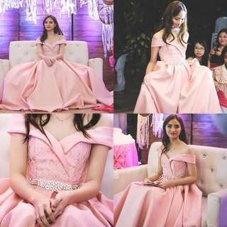 Blush Pink Gown - For Debut or Prom! (FOR RENT ONLY).