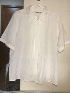 White short sleeves button down